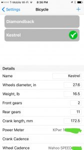 Bicycles List in MiCycle Pro