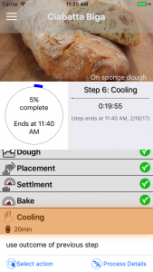 Process Dashboard in Bread Baker