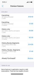 Premium Features in-app store